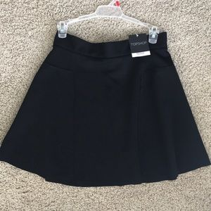 TOPSHOP Black Slater Skirt